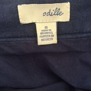 Odille Skirts - Odille Anthropologie Nautical Sailing Print Skirt